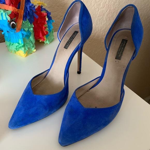 Zara Shoes - Zara Royal Blue Heels